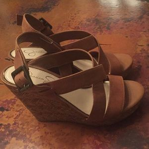 Jessica Simpson Shoes - Jessica Simpson Leather Wedge Heels Size 7.5